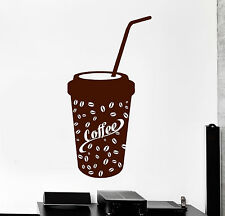 Vinyl Wall Decal Paper Coffee Glass House Decor Stickers Murals (ig4754)