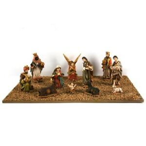 Natività sacra famiglia set 11 pastorelli statuine presepe decorazioni di natale