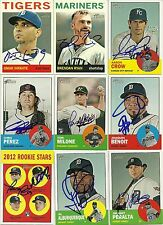 2012 Topps Heritage TOM MILONE ADDISON REED Signed Card auto RC DUEL SIGNED