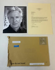 2014 ALAN RICKMAN AUTOGRAPHED 8x10 ~ with letter from Melanie Parker