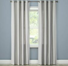 "Threshold Natural Solid (1) Curtain Panel 54 X 84"" Gray Grommet Top"
