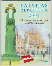More details for 2004 latvia trial eight coin euro set in a card pack in near mint condition.