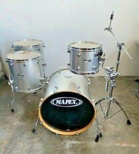 Mapex Pro M Classic Maple PM4266 4-Piece Drum Set Platinum Sparkle 22/16/16/12