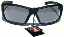 Nuevo * Harley-Davidson HD901X en marco negro con el logotipo de HD con lentes Gafas Gris