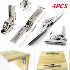 4x 90 Degree 180° Folding Shelf Door Hinge Hidden Bracket Table Holder Furniture