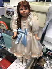 Künstlerpuppe Porzellan Puppe 80 cm. Top Zustand