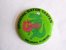 Vintage Al E Gator's Pub / Restaurant Orlando Florida Advertising Pinback Button