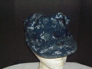 Blue Digital Camo Cap US Navy NWU Type I Style