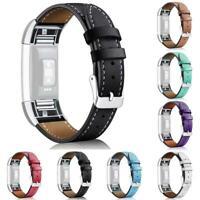 Leder Ersatzband Armband Uhrenarmband für Fitbit Charge Heiß 2 O1B2 O9U7