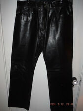 GUESS JEANS Brand Shiny Black Leather Pants Jeans