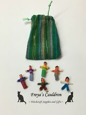Handmade Bag of 6 Worry Dolls