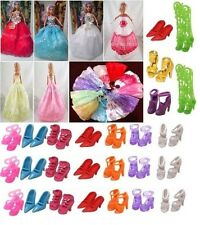 LOT OF 12 BARBIE ITEMS -WEDDING DRESS LONG-SMALL+ SHOES & Accesories-FREEPOST UK