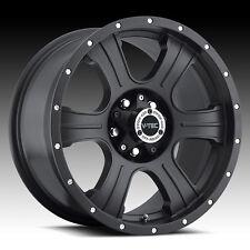 "20"" Vision Assassin Matte Black Wheels Rims 6x5.5 6 Lug Chevy GMC ToyotaTruck"