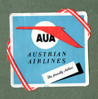 Airline luggage label Baggage Labels AUA Austria #402