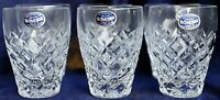 Vintage Retro Diamond Cut Bohemia Lead Crystal Water Cordial tumblers150ml