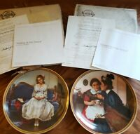 Set of 2 Rockwell's Rediscovered Women series plates. #5 & #6.Original packaging