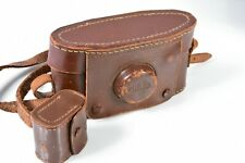 Vintage Leather  Purma Plus 55mm Anastigmat Camera Case & Strap