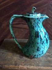 Vintage Art Pottery Speckled Ceramic Coffee Pot ~ Pitcher ~ MCM ~ Ca. 1970's