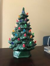 "Vintage 1970's Ceramic Christmas Tree 11.5"" Pre-owned"