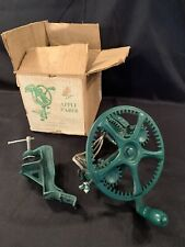Vintage Reading Apple Peeler Parer Cast Iron Green Handle No 78 With Box