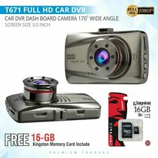 "3"" Dual Lens Car DVR Dashboard Camera Dash Cam 1080P Front and Rear 170°Recorder"