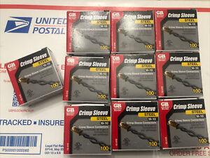 (10 x 100) Gardner Bender 18-10 Ga. Copper Wire Crimp Sleeve , Free Shipping!!!