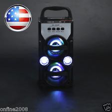 LED Bluetooth Wireless Portable Speaker Super Bass with USB/TF/AUX/FM Radio US