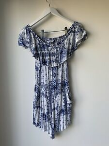 SUPRE Women's Stylish PLAYSUIT Has Pockets Size 12 Excellent Condition
