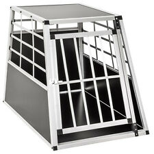 Cage box caisse de transport chien mobile aluminium single 65 x 90 x 69,5 cm