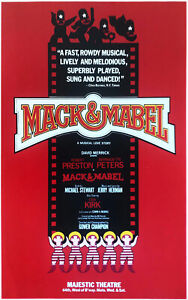 MACK & MABEL—1974 Broadway Theater Window Card Poster; Robert Preston