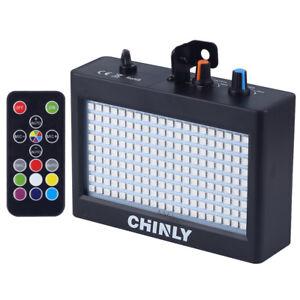 Strobe Blitzlicht Bühnenlampe 35W RGB 180 LEDs Einstellbare Disco DJ Bar Lichter