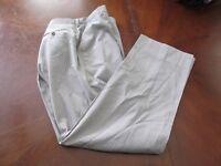 Paul Smith London Sz 36/31 Beige Striped Wool Men's Dress Pants Made Italy