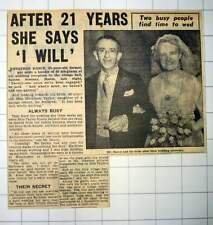 1953 Jonathan Dance Weds Miss Kathleen Taylor Sutton Scotney Hampshire