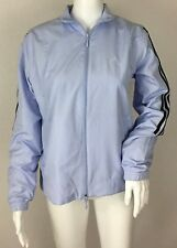 Women's Adidas Lavender Purple 3 Stripe Mesh Lined Windbreaker Jacket Size S