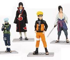 """Naruto Uzumaki Anime 4x Figure 4"""" Toys Figures Set: Kakashi Sasuke Itachi Uchiha"""