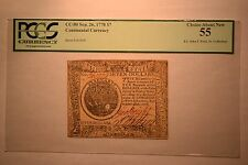 Continental Currency September 26, 1778 $7 PCGS Choice About New 55.