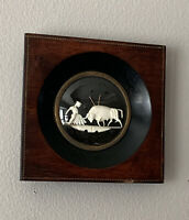 VTG PAEZ CARVED FRAMED CARVING BULL FIGHT MATADOR SCENE SPAIN MARCA DE GARANTIA