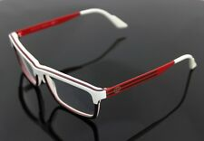 RARE Authentic GUCCI White Green Red EyeGlasses Frame Glasses GG 3517 WXF