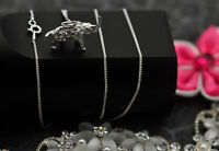 3D Solid Elephant Necklace Real Sterling Silver 925 Charm Zoo Animal Jewelry New