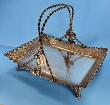 Art Nouveau Victorian Rogers Mfg Co Hartford Bridal Basket Cherries Quad Plate