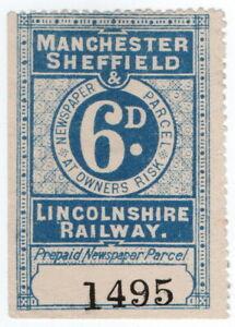 (I.B) Manchester, Sheffield & Lincolnshire Railway : Newspaper Parcel 6d