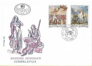 FDC 1988 Yugoslavia Museum Exhibition Folklore Tradition Costumes Philately