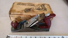 "Vintage Corsair Great Neck 9"" Iron Wood Hand Plane 2"" Cutter Carpenters Tool Box"