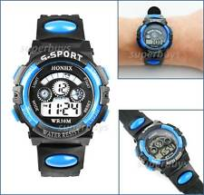 Girls Boys Sports Wrist Watch Water Resistant Digital Quartz Alarm Date Function
