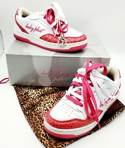 Baby Phat  DIVA White/Fuschia Shoes Fashion Sneakers Size 9