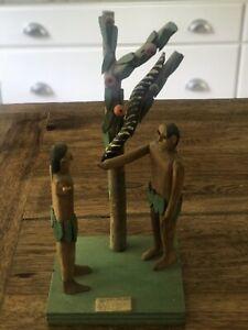 Fred M. Webster Folk Art Sculpture, Adam And Eve