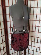 Dressy Nordstrom NWT Mycra Pac Wine w/ Black velvet Flower Accents Flap purse