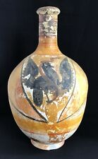 Early Mexican Pottery Water Jug / Olla Decorated Eagle & Snake