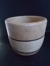 Handmade Turned English Wooden Bowl Fabulous Wood Graining Treen Woodenware 8