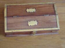 Caja de Joyería de Madera & Brass indio hecho a mano en el pecho de la baratija puede bloquear Lindo Regalo